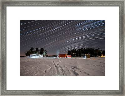 Icefishing Stars Framed Print by Mark Highfield