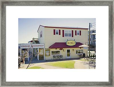 Icehouse Waterfront Restaurant 1 Framed Print