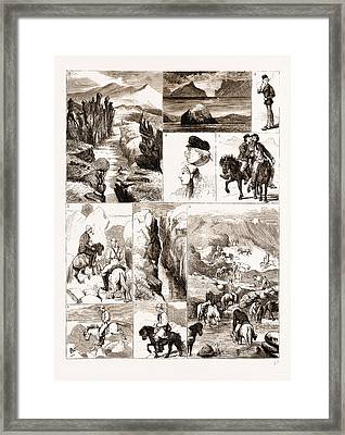 Iceland 1. The Almanna-gja Fissure Framed Print by Litz Collection