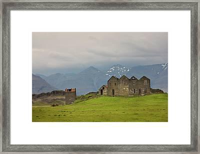 Iceland Abandoned Farmhouse On A Hill Framed Print