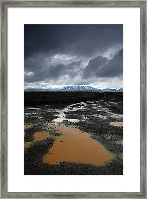 Iceland After The Rain Framed Print by Nina Papiorek