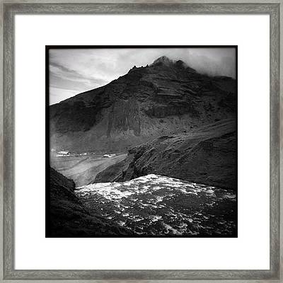 Iceland Black And White Square Format Framed Print