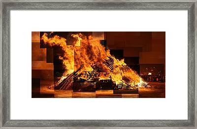 Iceland Bonfire Framed Print