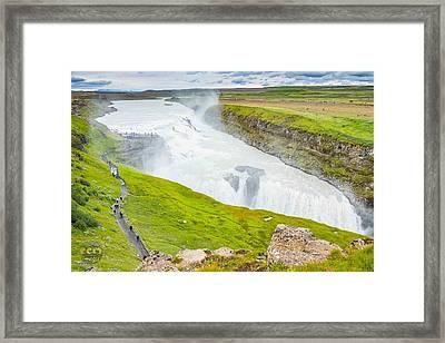 Gullfoss Waterfall Iceland Framed Print by Cliff C Morris Jr