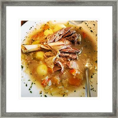 Iceland Food - Traditional Icelandic Lamb Soup Framed Print