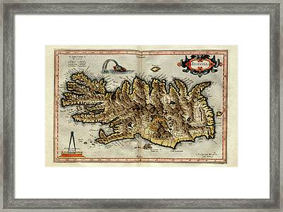 Iceland Framed Print by Library Of Congress, Geography And Map Division