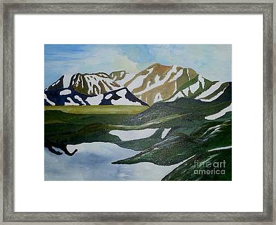 Iceland Mountains Framed Print