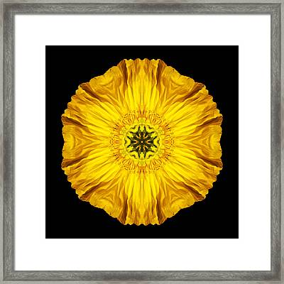 Framed Print featuring the photograph Iceland Poppy Flower Mandala by David J Bookbinder