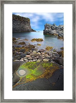 Iceland Rocky Coast Landscape Framed Print by Dirk Ercken