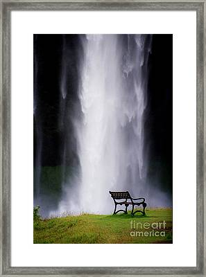 Iceland Waterfall Framed Print by Arie Arik Chen