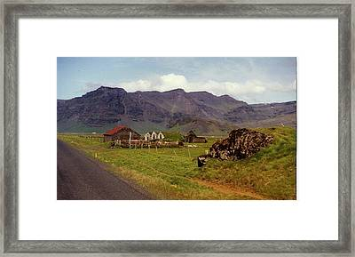 Framed Print featuring the photograph Icelandic  Cottage by Debra Kaye McKrill