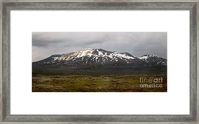 Icelandic Landscaope Framed Print by Louise Fahy
