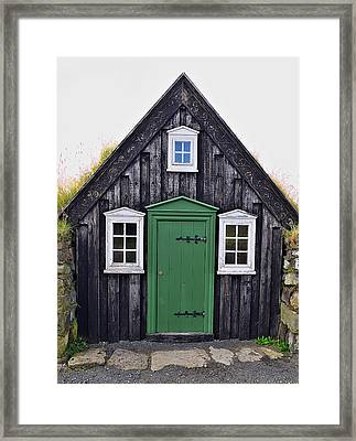 Icelandic Old House Framed Print