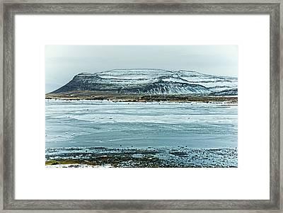 Icelandic Winter Landscape Framed Print