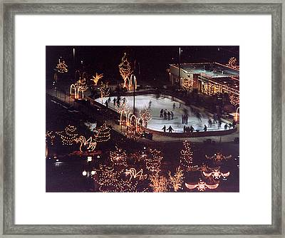 Icer Skaters Framed Print