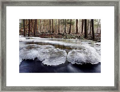 Icescape Framed Print by Dawn J Benko