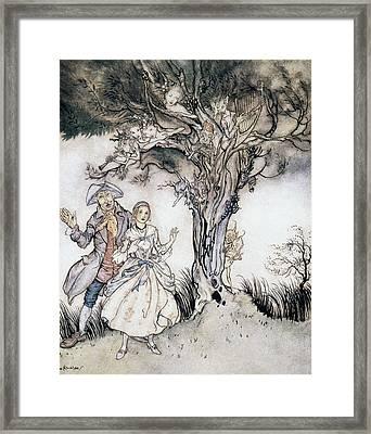 Ichabod Crane And Katrina Framed Print