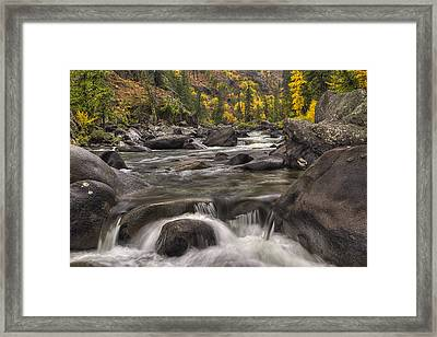 Icicle Autumn Framed Print by Mark Kiver