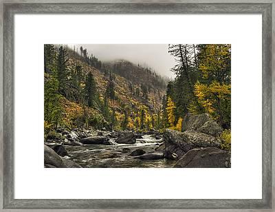 Icicle Creek Hues Framed Print by Mark Kiver