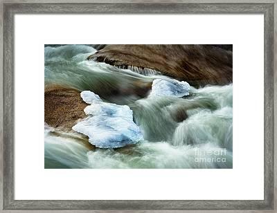 Icicle Creek Framed Print by Inge Johnsson