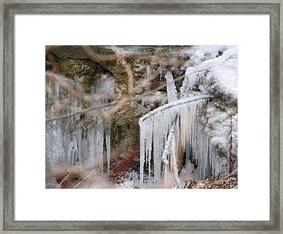 Icicle Creek Framed Print by Kimberly Mackowski
