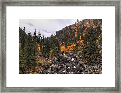 Icicle Creek Radiance Framed Print by Mark Kiver