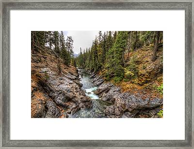 Icicle Gorge Framed Print