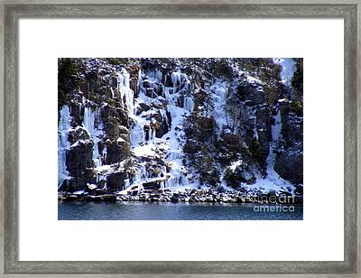 Framed Print featuring the photograph Icicle House by Barbara Griffin