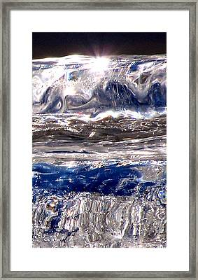 Icicle Mysteries Framed Print