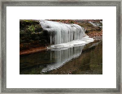Icicle Reflection  Framed Print