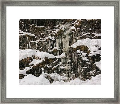 Icicle Rocks Framed Print