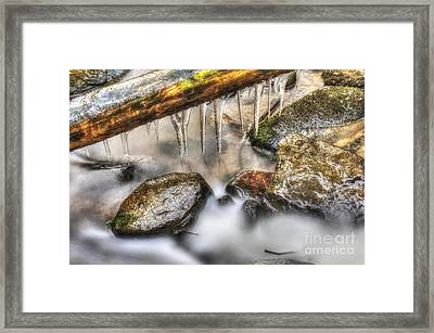 Icicles 2 Framed Print
