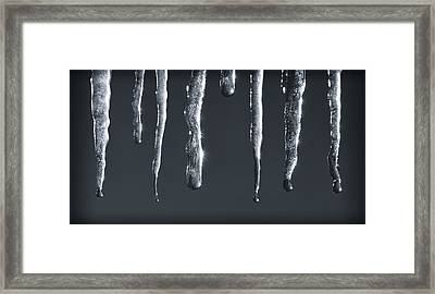 Icicles Framed Print by Adam Romanowicz