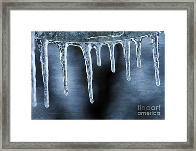 Icicles Framed Print by Darren Fisher