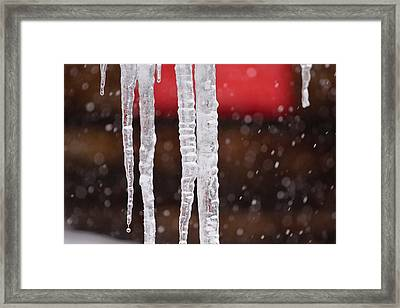 Icicles Framed Print by Denice Breaux