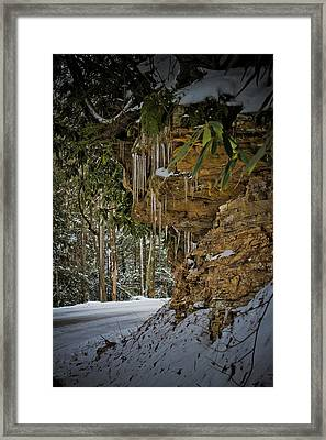 Icicles In Wv Framed Print