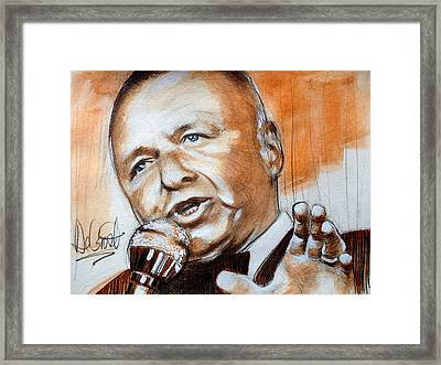 Icon Frank Sinatra Framed Print by Gregory DeGroat