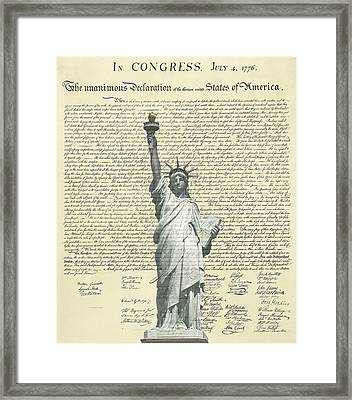 Icon Of Freedom Framed Print by Charles Beeler