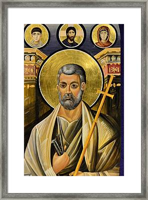 Icon Of Holy Apostle Peter Framed Print