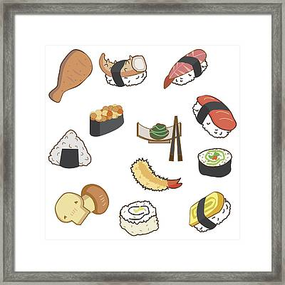 Icon Of Japan Food And Sushi In Cartoon Style On Blue Background For Background Or Wallpaper By Suphaya Wachiraboworntham