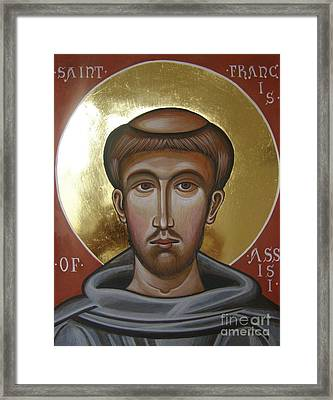 Icon Of St Francis Of Assisi Framed Print by Peter Murphy