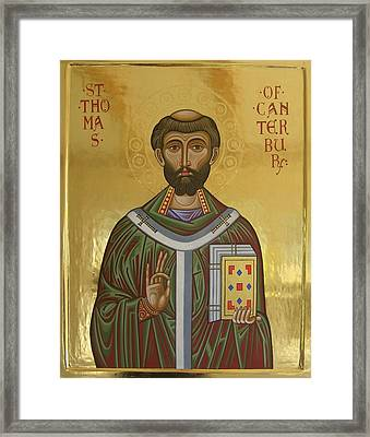 Icon Of St Thomas Becket Of Canterbury Framed Print by Peter Murphy