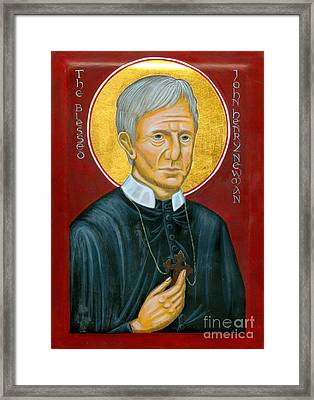 Icon Of The Blessed John Henry Newman Framed Print by Juliet Venter
