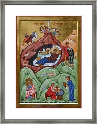 Icon Of The Nativity Of Christ Framed Print by Phil Davydov and Olga  Shalamova