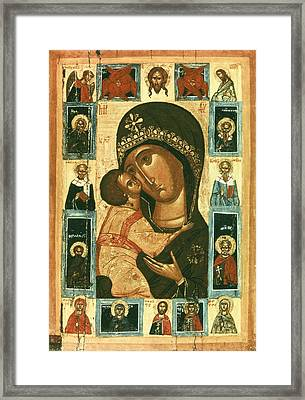 Icon Of The Virgin Of The Tenderness Framed Print by Everett