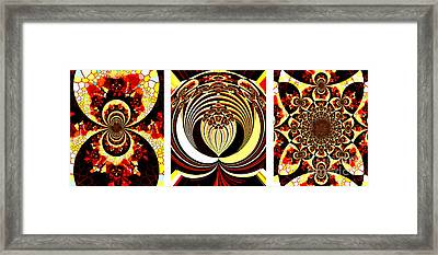 Iconic - Abstract - Triptych Framed Print by Barbara Griffin