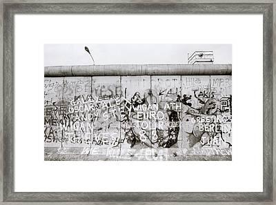 Iconic Berlin Wall Framed Print by Shaun Higson