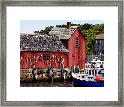 Iconic Fishing Shed  Framed Print
