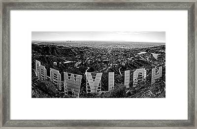 Iconic Hollywood  Framed Print