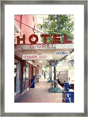 Iconic Landmark Humming Bird Hotel And Grill In New Orelans Louisiana Framed Print